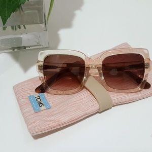 Toms Blush & Navy Gradient Mackenzie Sunglasses